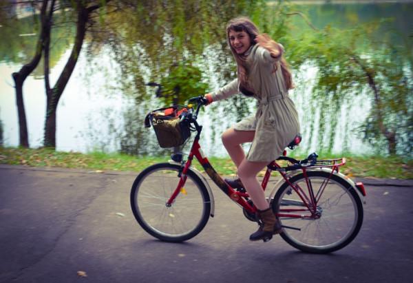 Anca pe Bicicleta