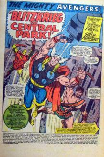 Avengers benzi desenate vechi Iron Man Thor
