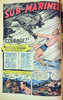"Giant-size issue. Origin and 1st appearance of the Guardians of the Galaxy. Script by Arnold Drake, pencils by Gene Colan, inks by Mike Esposito (as Mickey Demeo). The remainder of the issue contains Golden Age reprints: the Sub-Mariner (""Courage""); and the All Winners Squad featuring Miss America, the Human Torch, and Captain America (from All Winners 21). Letter to the editor from comics writer Steven Grant. Colan cover pencils. Cover price $0.25."