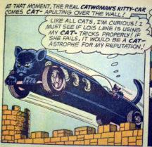 Catwoman Aparitie Silver Age benzi desenate vechi