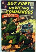 Sgt. Fury Howling Commandos benzi desenate vechi