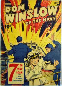 Don Winslow War Bonds benzi desenate golden age vechi