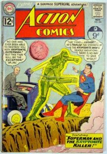 Superman Kryptonita benzi Action Comics