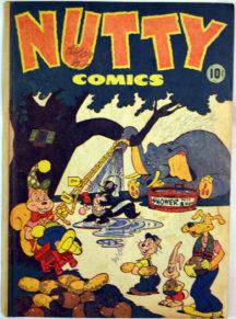 Nutty Comics cu animale harvey gold age