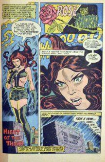 Lois Lane Rose & Thorn prima aparitie benzi desenate vechi