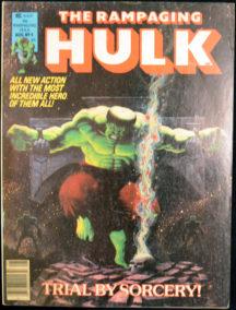 Rampaging Hulk revista banda desenata comic marvel