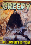 Stories in this issue include the following reprints: Forgotten Flesh by Doug Moench and Vicente Alcarar; For the Sake of Your Children! by Ed Fedory and Jaime Brocal; It! by Tom Sutton; In Darkness it Shall End! by Doug Moench and Vicente Alcazar; The Ghouls! by Carl Wessler and Martin Salvador; Berenice by Rich Margopoulos and Isidro Mones (from the story by Edgar Allan Poe); and It: The Terror-Stalked Heiress! by Carl Wessler and Jose Gual. The features page includes an announcement of the departure of Forrest J Ackerman from Famous Monsters. Cover art by Frank Frazetta. Cover price $2.25.