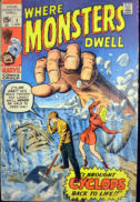 Where Monsters Dwell primul numar comics marvel