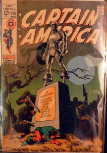 Jim Steranko Captain America cover benzi desenate vechi marvel