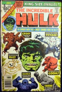 Incredible Hulk Groot Blip Goom Taboo Diablo