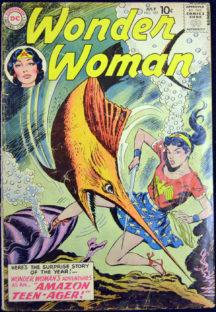 Wonder Woman Mer-Boy benzi desenate comics vechi silver age