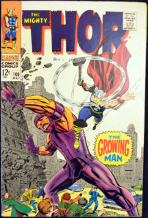 Growing Man Thor Benzi desenate vechi marvel