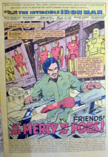 Jim Rhodes Iron Man banda desenata prima aparitie