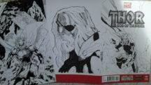 ARta originala benzi desenate comics original art thor drawing