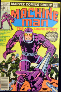 Jack Kirby Machine Man benzi desenate vechi Marvel