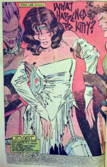 Kitty Pride Chris Claremont benzi desenate Marvel vechi
