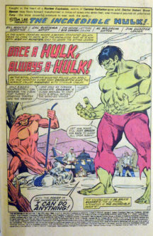 Incredible Hulk benzi desenate vechi vintage