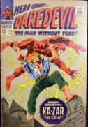 Marvel Ka-zar daredevil comics benzi desenate vechi Silve Age