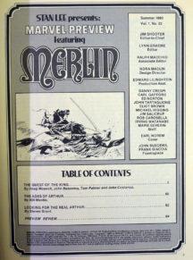 Merlin benzi desenate comics marvel