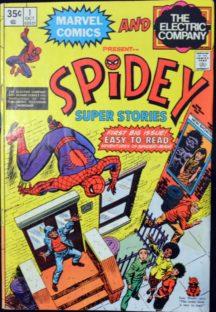Spidey benzi desenate vechi dc comics