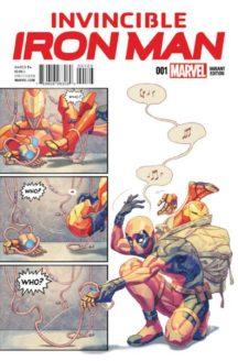 Iron man Deadpool benzi desenate comics variante