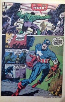 Captain America 110 steranko hulk vs captain america comics