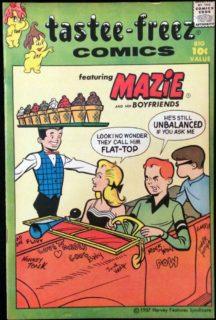 Tastee freez Comics Mazi Harvey benzi desenate gold age