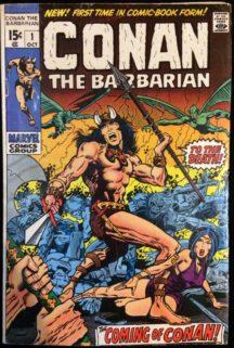 Conan Barbarian origine numar cheie Marvel prima aparitie comics