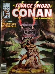 Savage Sword Conan revista banda desenata comic Marvel vechi
