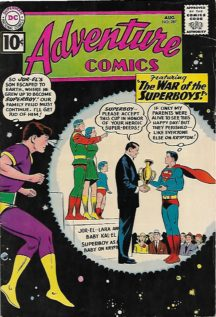 superboy adventure comics jor-el benzi vechi dc comics