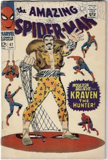 Kraven spider-man marvel benzi desenate vechi comics