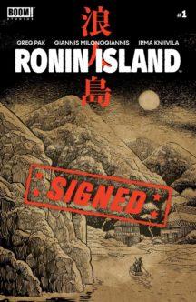 Greg Pak semnata ronin island boom