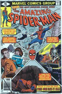 Black cat spider-man aunt may benzi desenate vechi marvel comics