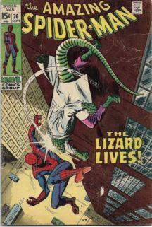 Spider-Man Lizard marvel benzi desenate vechi