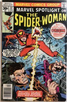 Marvel spotlight spider-woman origine prima aparitie hot comics