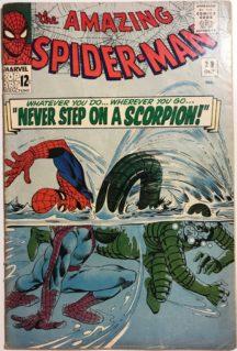 SPider man scorpion marvel amazing comics