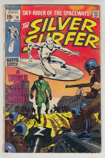 Silver surfer cover benzi desenate vechi marvel