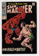 Sub-Mariner cu Thing cover fantastic four Marvel