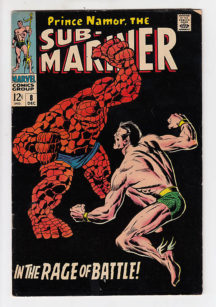 Sub-Mariner cu Thing cover fantastic four Marvel