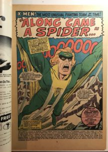 X-men 35 cover spider-man marvel benzi vechi