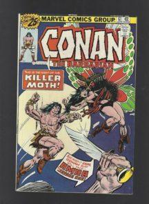 Conan barbarian 61 killer moth benzi desenate Marvel
