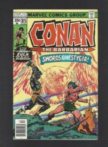 Conan Stygia benzi desenate vechi marvel vintage