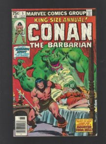 conan barbarian annual king-size benzi vechi
