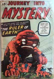 Jack kirby stan lee journey mystery marvel benzi vechi comics