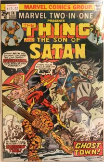 Son of Satan Marvel Thing two in one comics
