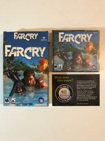 Far cry 1 box video game big