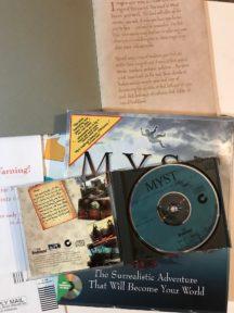 Myst cyan big box cutie video game original vanzare