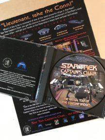 Star Trek captains chair big box game sf floppy