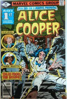 Primul Alice Cooper comics benzi desenate marvel premiere
