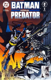 Batman vs predator benzi desenate vechi dc comics